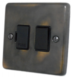Standard Plate Aged Brass Fused Spur Switches
